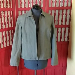 Evan Picone front zip Jacket sz 12
